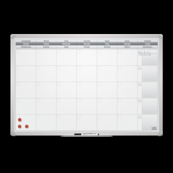 Tabla planning lunar