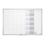 Tabla planning lunar magnetica