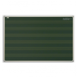 Tabla verde printata cu portativ muzical