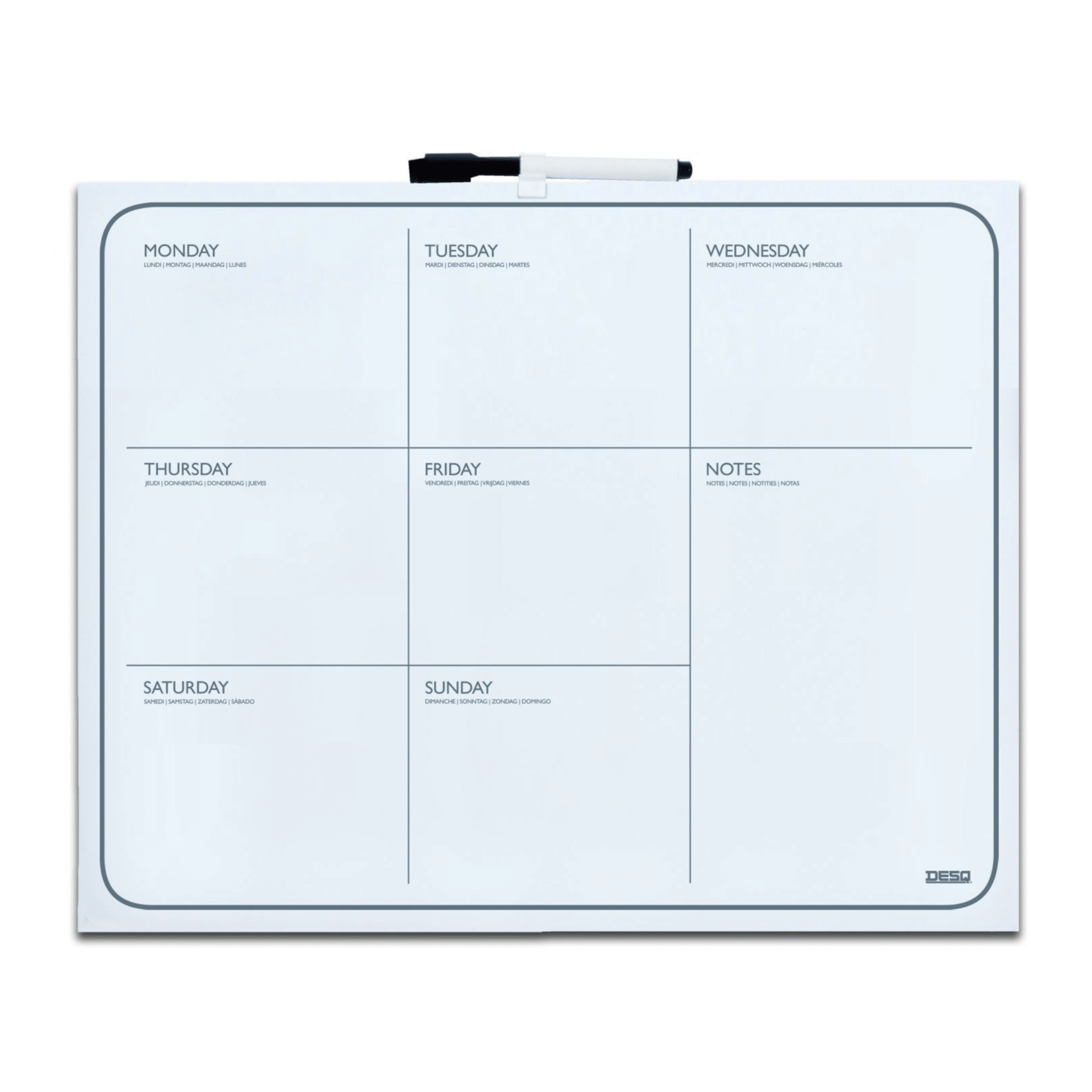 Tabla magnetica planificator saptamanal