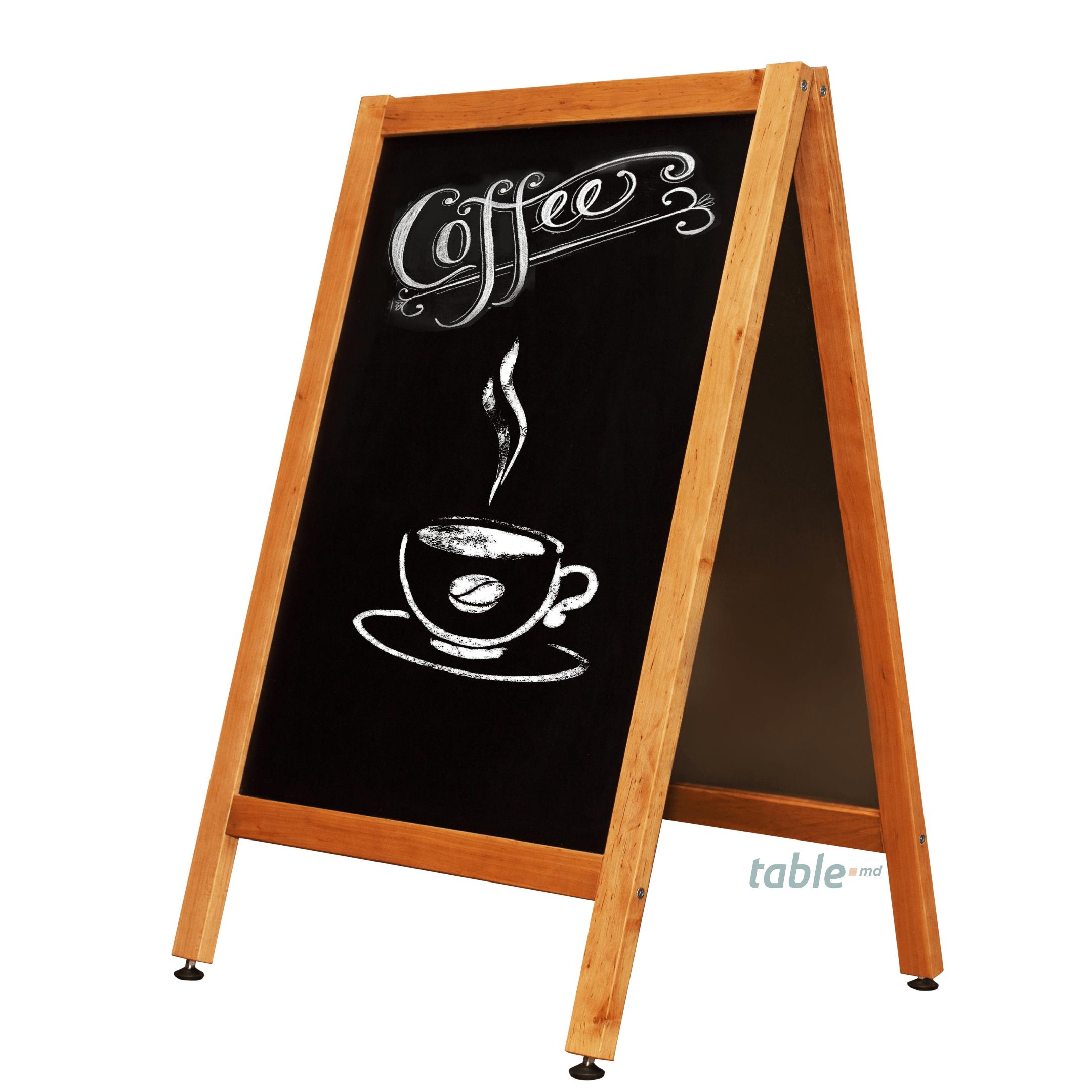 Tabla magnetica neagra cafenele