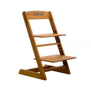 Scaun din lemn ZET cu inaltime reglabila